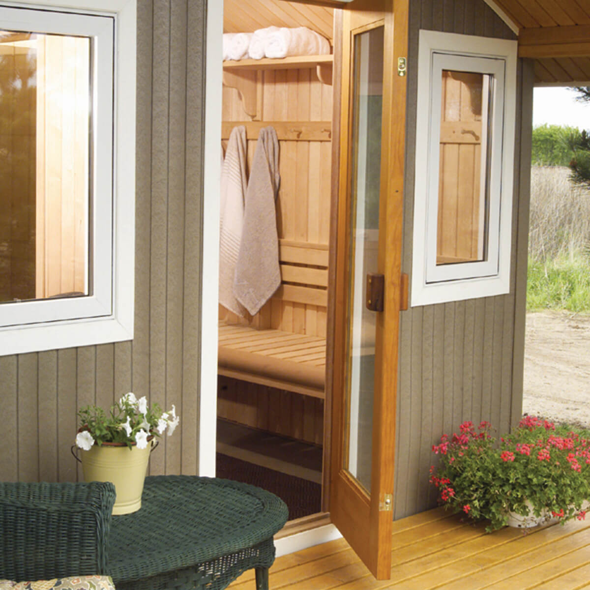 Metro Outdoor Sauna Family Image